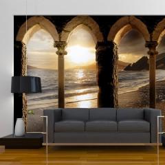 Artgeist Fototapete - Schloss am Strand