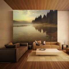 Artgeist Fototapete - Wald und See