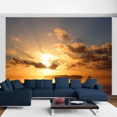 Artgeist Fototapete - Meer - Sonnenuntergang