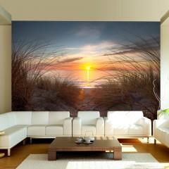 Artgeist Fototapete - Sonnenuntergang am Atlantik