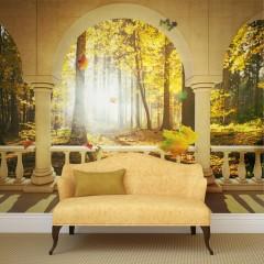 Artgeist Fototapete - Dream about autumnal forest