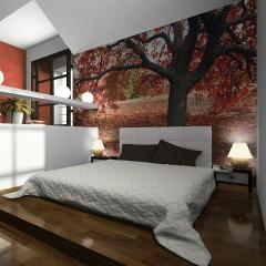 Artgeist Fototapete - Kupferroter Herbstbaum