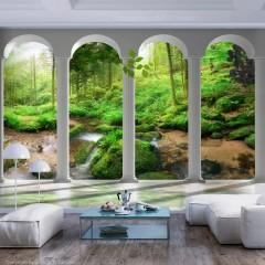 Artgeist Fototapete - Pillars and Forest