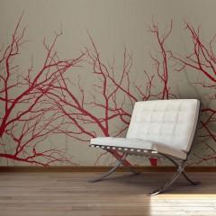 Artgeist Fototapete - Red-hot branches