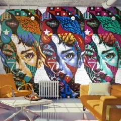 Artgeist Fototapete - Colorful Faces