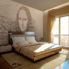 Artgeist Fototapete - Gedanken von Mona Lisa