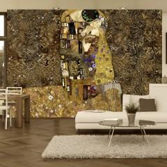 Artgeist Fototapete - Klimt inspiration - Golden Kiss