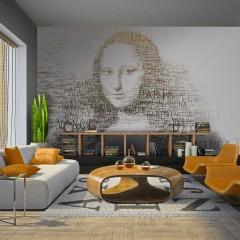 Artgeist Fototapete - Notizen von Leonardo da Vinci