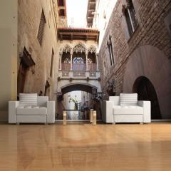 Artgeist Fototapete - Barcelona Palau generalitat in gothic Barrio