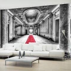 Artgeist Fototapete -  Das Geheimnis von Marmor - schwarz und weiß