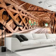 Artgeist Fototapete - Die Holzbrücke