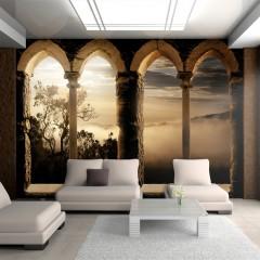 Artgeist Fototapete - Kloster in den Bergen