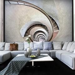 Artgeist Fototapete - White spiral stairs