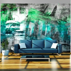 Artgeist Fototapete - Berlin - Collage (grün)