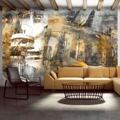 Artgeist Fototapete - Berlin - Collage (orangene)
