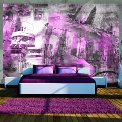 Artgeist Fototapete - Berlin - Collage (violett)