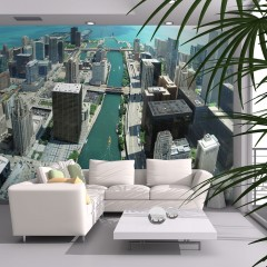 Artgeist Fototapete - Stadtarchitektur von Chicago
