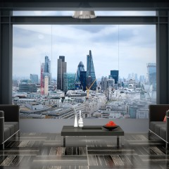 Artgeist Fototapete - City View - London