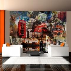 Artgeist Fototapete - Londoner Collage