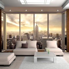 Artgeist Fototapete - Morgen und Wolkenkratzer