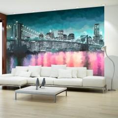 Artgeist Fototapete - New York - Gemalt