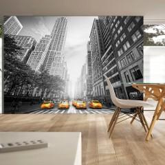 Artgeist Fototapete - New York - yellow taxis