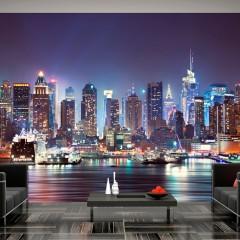 Artgeist Fototapete - Night in New York City