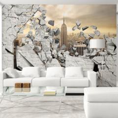Artgeist Fototapete - NY – Stadt hinter der Wand