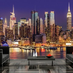 Artgeist Fototapete - NYC: Night City