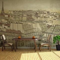 Artgeist Fototapete - Auf Wiedersehen Paris!