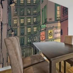 Artgeist Fototapete - Breakfast in Paris