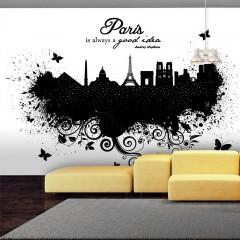 Basera® Fototapete Motiv Paris 10110905-79, Vliestapete