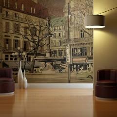 Artgeist Fototapete - Parisian fountain