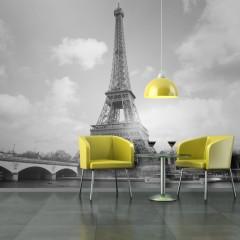 Artgeist Fototapete - Seine und Eiffelturm