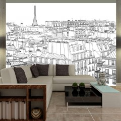 Artgeist Fototapete - Skizzenbuch eines Parisers