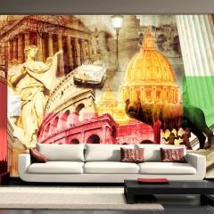 Artgeist Fototapete - Rom - Collage