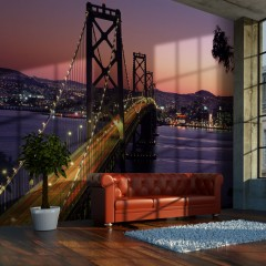 Artgeist Fototapete - Charming evening in San Francisco