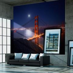 Artgeist Fototapete - Golden Gate Bridge bei Nacht
