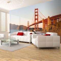 Artgeist Fototapete - Golden Gate Brücke - Sonnenuntergang , San Francisco