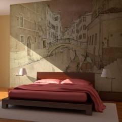 Artgeist Fototapete - Gondolas in Venice