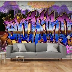 Artgeist Fototapete -  Colorful Mural