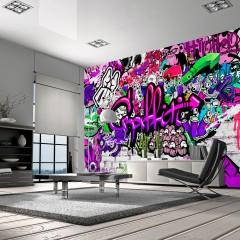 Artgeist Fototapete -  Purple Graffiti