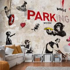 Artgeist Fototapete - [Banksy] Graffiti Collage