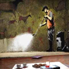 Artgeist Fototapete - Banksy - Cave Painting