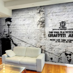 Artgeist Fototapete - Banksy - Graffiti Area