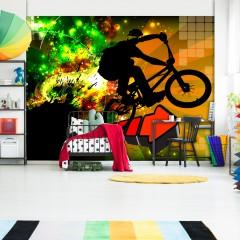 Artgeist Fototapete - Bicycle Tricks