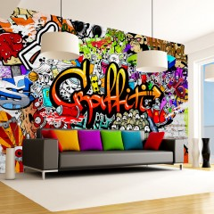 Artgeist Fototapete - Colorful Graffiti