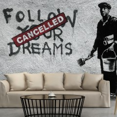 Artgeist Fototapete - Dreams Cancelled (Banksy)