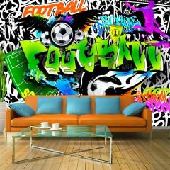 Artgeist Fototapete - Football Graffiti