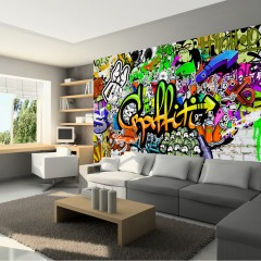 Artgeist Fototapete - Graffiti on the Wall